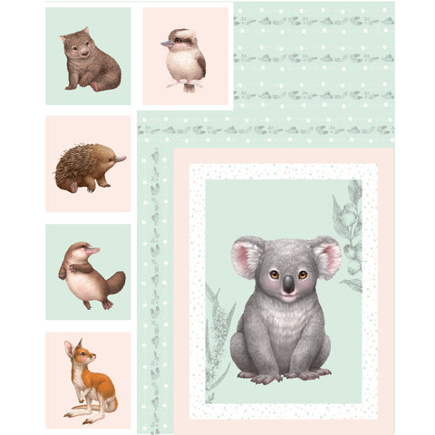 LITTLE AUSSIE FRIENDS Sampler Panel - NEW ARRIVAL