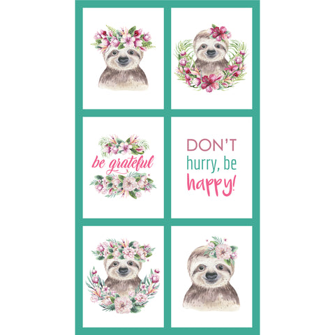 TROPICAL ZOO Sloth Block Panel - NEW ARRIVAL