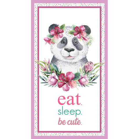 TROPICAL ZOO Panda Cot Panel - NEW ARRIVAL