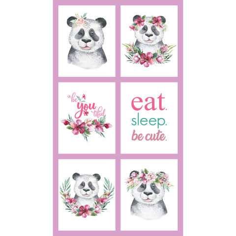 TROPICAL ZOO Panda Block Panel - NEW ARRIVAL