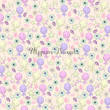 CUSTOM DIGITAL WOVEN (Cotton Sateen 150gsm) Dreamy Babes - Pastel Balloons