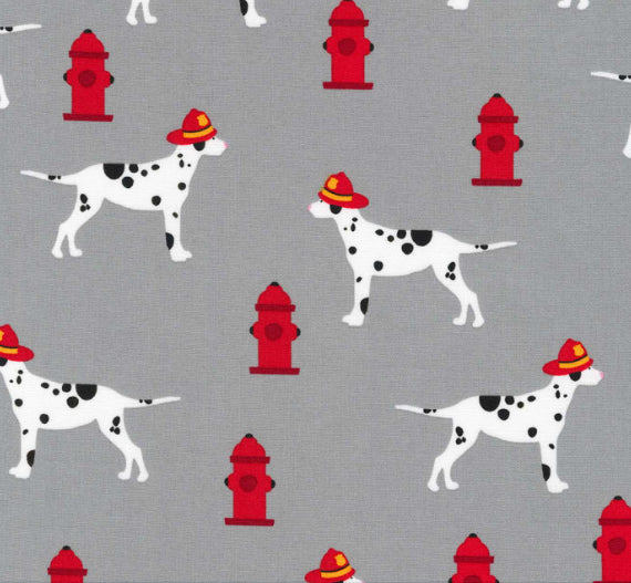 FIRE PUPS Hydrants & Dalmation Pups Grey