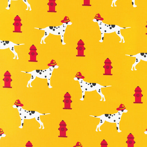FIRE PUPS Hydrants & Dalmation Pups Yellow