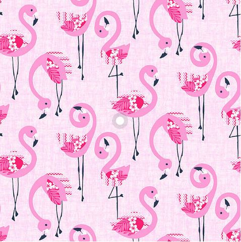 FLAMINGO BEACH Flamingos on Pink - NEW ARRIVAL