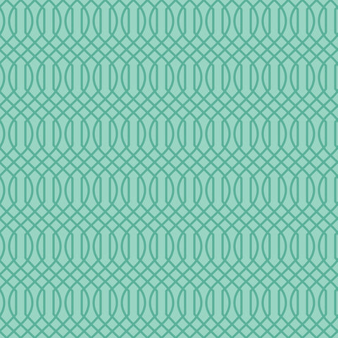 FLOWER MARKET Geometric Teal - NEW ARRIVAL