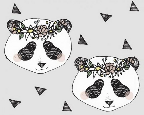 BLOOME COPENHAGEN KNIT Flower Panda Light Grey - SALE $25.00 p/m