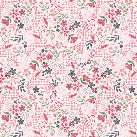 GINGHAM FARMHOUSE Bunnies Pink - NEW ARRIVAL