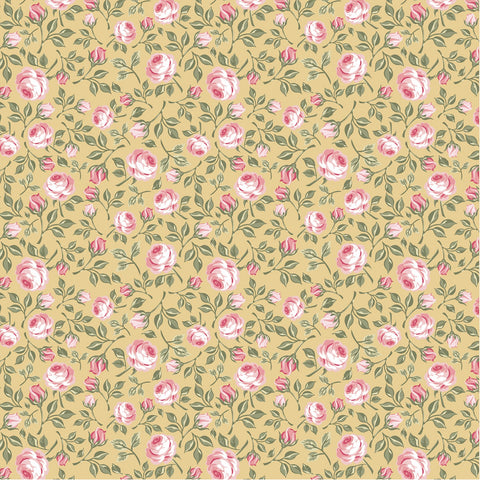 GINGHAM FARMHOUSE Vintage Roses Yellow - NEW ARRIVAL
