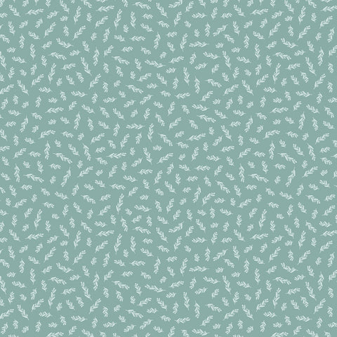GINGHAM GARDENS Stems Teal - NEW ARRIVAL