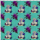 CUSTOM DIGITAL PRINT Gothic Alice - Knave Bouquets Emerald