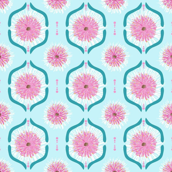 SWEET BOTANICALS Gumnut Flower Tiles Light Blue - SALE $19.00 p/m