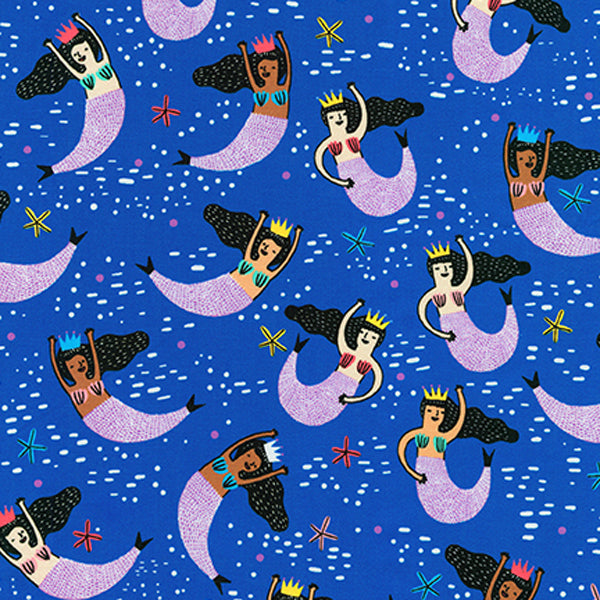 HELLO LUCKY Mermaids Navy - SALE $17.00 p/m