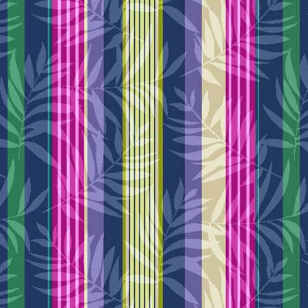 HUMMINGBIRDS & HIBISCUS Palm Stripe Tropical - SALE $15.00 p/m