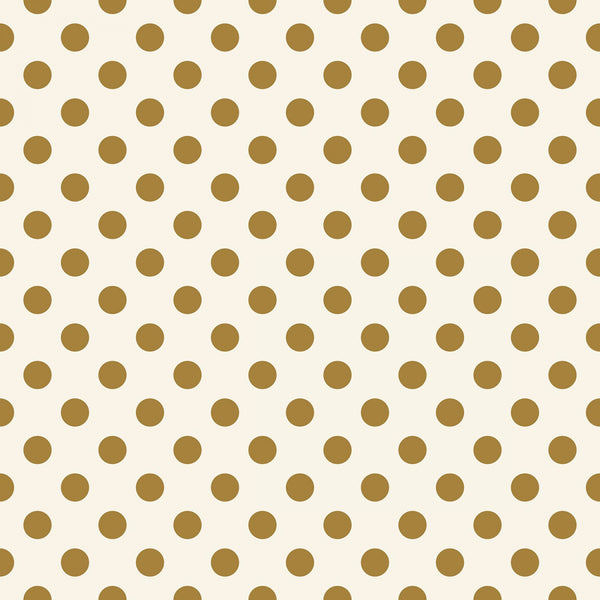 IN BLOOM Gold Dots Cream Sparkle