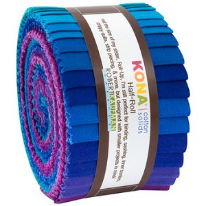 KONA SOLIDS Peacock Palette Half Jelly Roll - NEW ARRIVAL