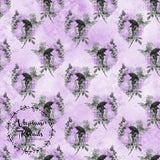 CUSTOM DIGITAL FABRIC Lilac Glam - Bouquets Lilac Lavender