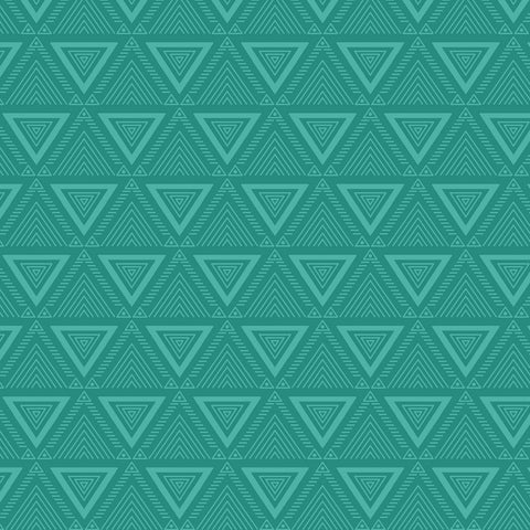 LIVING IN THE WILD Triangles Teal