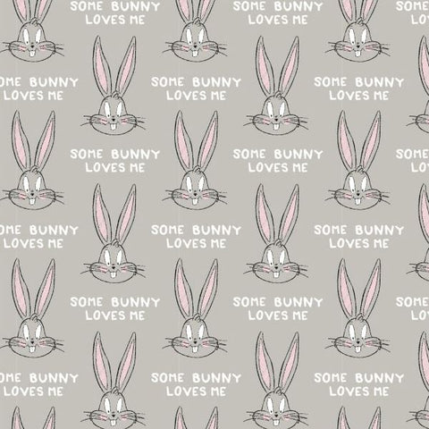 LOONEY TUNES LITTLE DREAMERS Some Bunny Loves Me Grey -