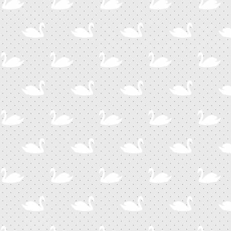 LOVE STORY Swans Gray - SALE $17.00 p/m