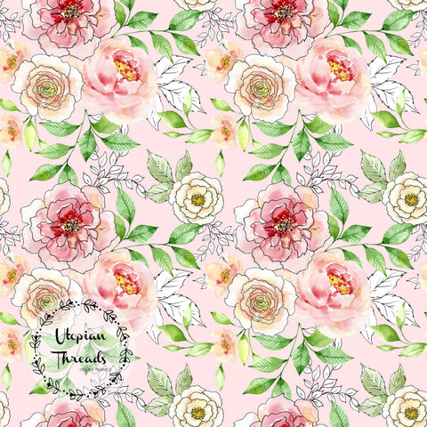 CUSTOM DIGITAL FABRIC Lovely Garden - Pink