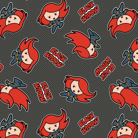 MARVEL KAWAII COLLECTION Black Widow Slate Grey - NEW ARRIVAL