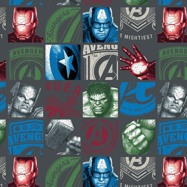 MARVEL AVENGERS Hero Blocks Charcoal
