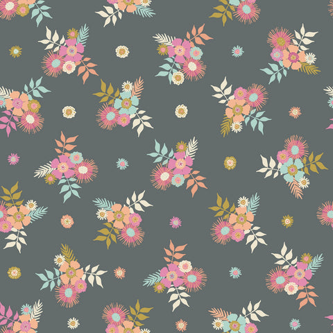 MEADOW LANE Posies Grey - NEW ARRIVAL