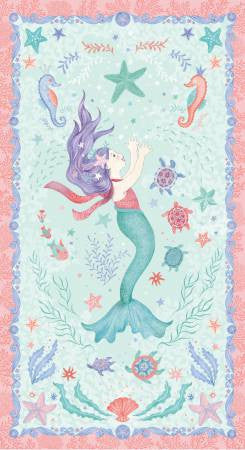 MERMAID DREAMS Mermaid Panel Multi - SALE $11.00 per panel