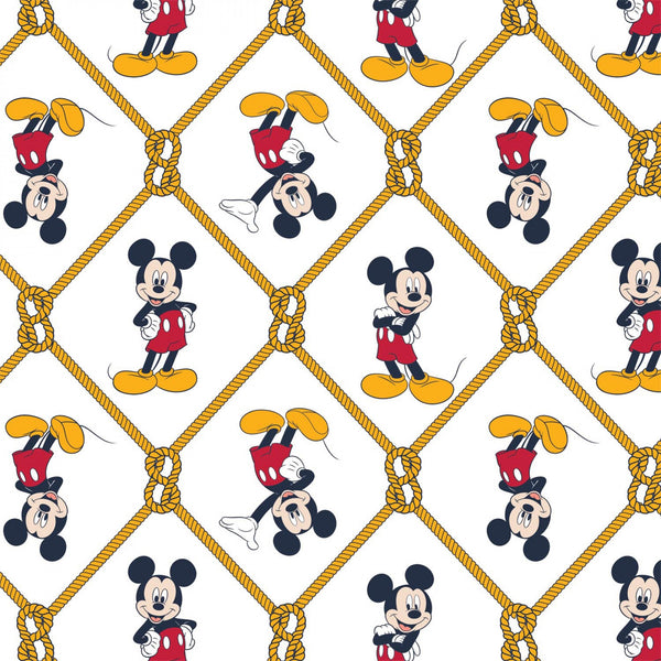 MICKEY MOUSE OH BOY Net White