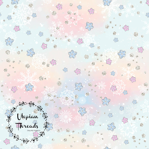 CUSTOM DIGITAL FABRIC Nutcracker Christmas - Blooms & Snowflakes - PRE ORDER (Sept/Oct 2019)