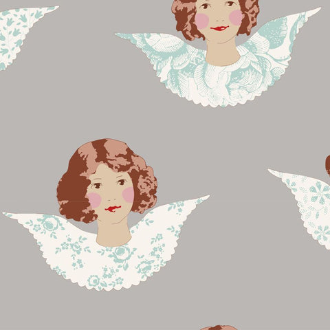 OLD ROSE COLLECTION Angel Scraps Grey - NEW ARRIVAL