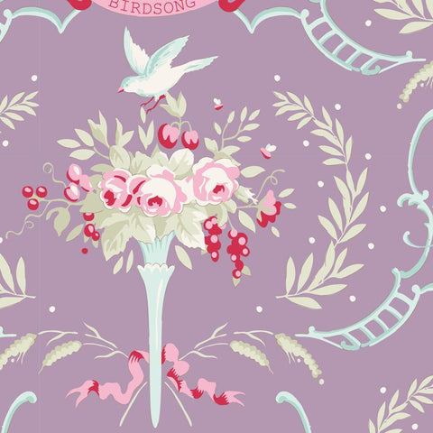 OLD ROSE COLLECTION Birdsong Floral Mauve Lilac - NEW ARRIVAL