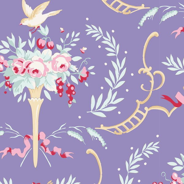 OLD ROSE COLLECTION Birdsong Floral Periwinkle Blue