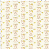 CUSTOM DIGITAL PRINT Playful Spring - Teddies Cream