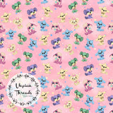 CUSTOM DIGITAL FABRIC Puppy Party - Mini Puppy Toss - Pink