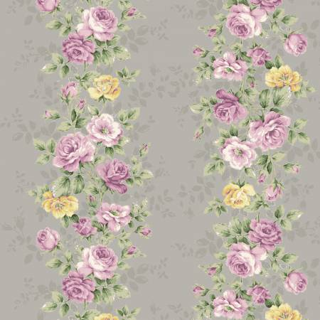 RURU BOUQUET SWEET ROSE Floral Wallpaper Grey - NEW ARRIVAL