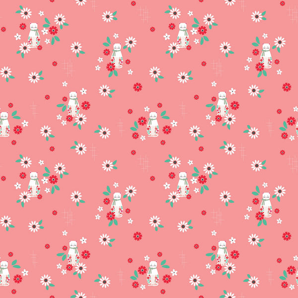 ROSE LANE Cat Floral Dark Pink