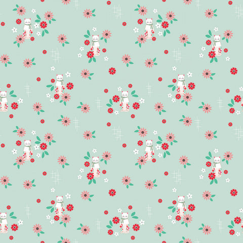 ROSE LANE Cat Floral Mint - NEW ARRIVAL