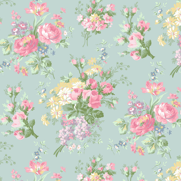 ROSLYN Floral Bouquet Mint