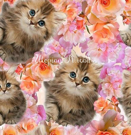 EURO DIGITAL KNIT Floral Kitties