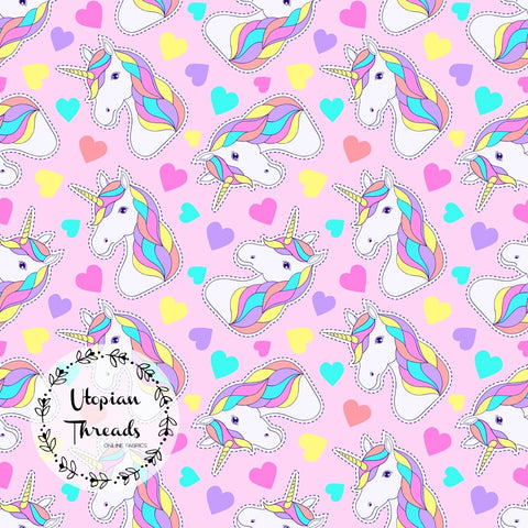 CUSTOM DIGITAL PRINT Summer Swirl - Unicorns Pink - BY REQUEST