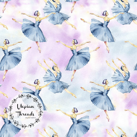 CUSTOM DIGITAL PRINT Swan Ballet - Ballerinas Pastel Multi - BY REQUEST