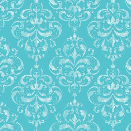 SWEET MELODY Damask Blue