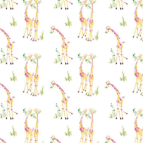 THE GIRLS COLLECTION Sweet Giraffes White