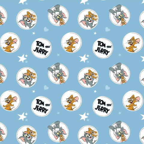 TOM & JERRY Circles & Stars Blue - NEW ARRIVAL