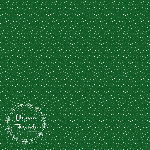 CUSTOM DIGITAL FABRIC Vintage Christmas - Pinspot Green