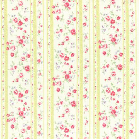 PRINCESS ROSE 2017 Wallpaper Stripe Lime - SALE $17.00 p/m