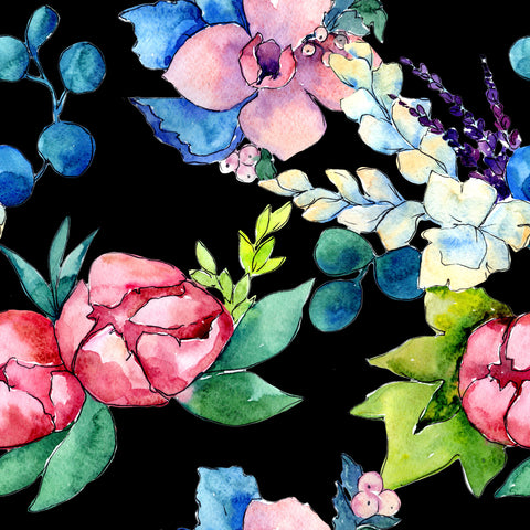 CUSTOM DIGITAL FABRIC Watercolour Bouquet Design B - BY REQUEST