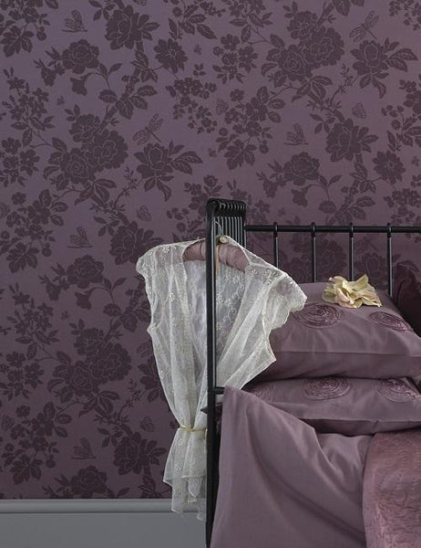 10292 Nina is a beautiful Purple Floral Wallpaper from Holden Decor