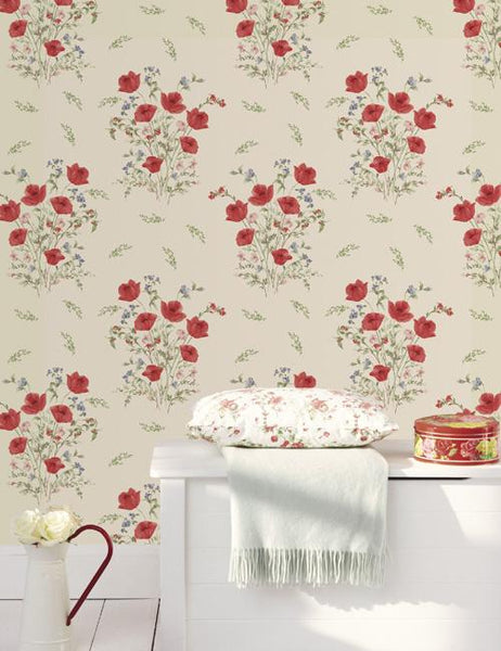10318 Summer Bouquet is a beautiful Beige Floral Wallpaper from Holden Decor